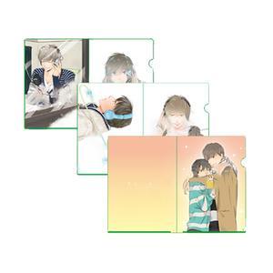 描き下ろし含むカラーイラスト クリアファイル3枚セット(ラフペーパー封入)