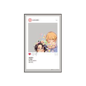 SNS風クリアカード/『ネイキッドカラー』A〈アマミヤオンリーイベント〉