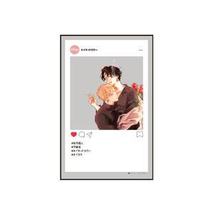 SNS風クリアカード/『ネイキッドカラー』B〈アマミヤオンリーイベント〉