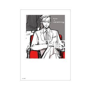 【数量限定・直筆サイン入】basso「クマとインテリ」/A4判アクリルプレート