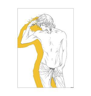 <2作家直筆サイン入り>尚月地×上條淳士コラボB2ポスター(艶漢・安里)