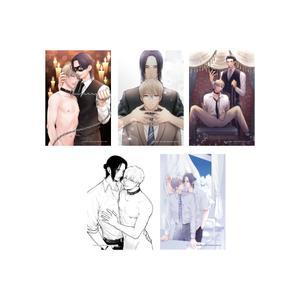 イラストカード全5種セット〈『カリギュラの恋』発売記念イベント〉