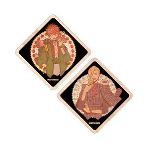 木製コースター(2種セット)/「愛は金なり」 <熊猫先生&黒田くろた先生既刊応援フェア>