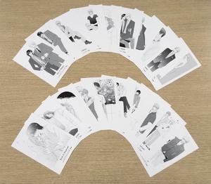 天禅桃子ポストカード(モノクロ20種セット)(drap)