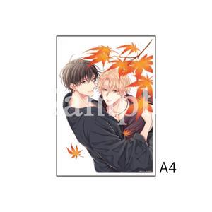 A4アクリルプレート/B(繋いだ恋の叶え方 口絵)〈「結んだ恋の伝え方」発売記念展〉