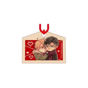 赤い糸の絵馬ストラップ/和紀・薫ver〈「結んだ恋の伝え方」発売記念展〉