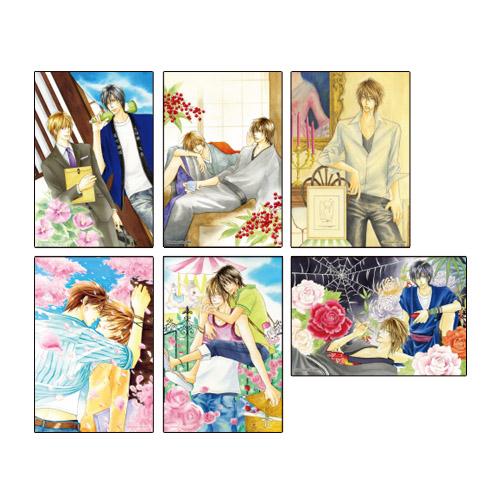 川唯東子先生イラストカード(全6種セット)