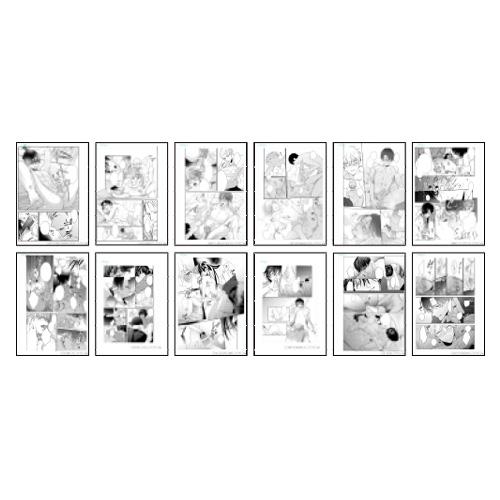 R18モノクロ複製漫画原稿12枚セット <ドラスマス2020>